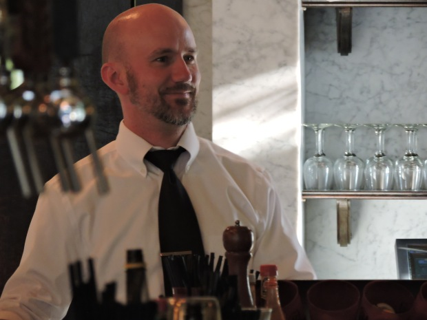 Derek. One of many friendly faces behind the bar.